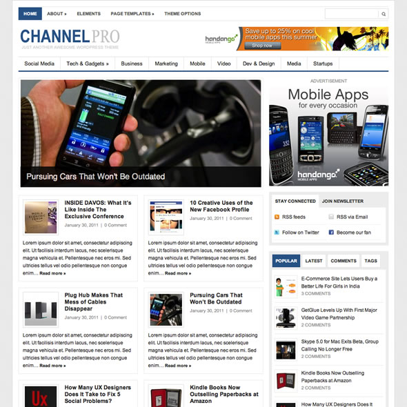 ChannelPro Wordpress Theme