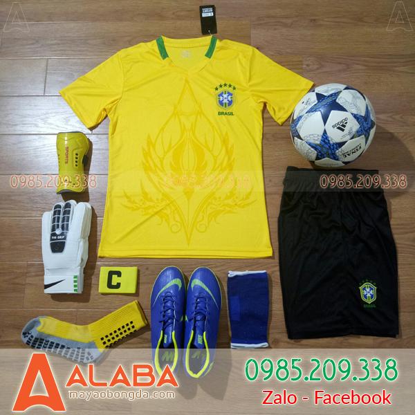Áo Đội Tuyển Brazil Training 2019 màu vàng