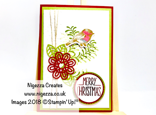 #stampinforall Christmas DT Challenge Using Stampin' Up!® Products