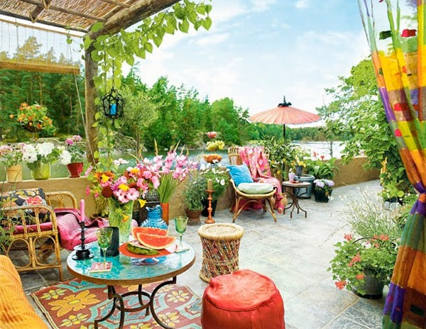 Cool Chic Style Attitude: Outdoor Living | bright and ... on Colorful Patio Ideas id=95502