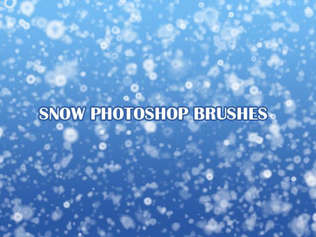 кисти для фотошопа снег пух