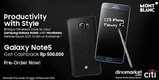 Promo Samsung Galaxy Note 5 MontBlanc