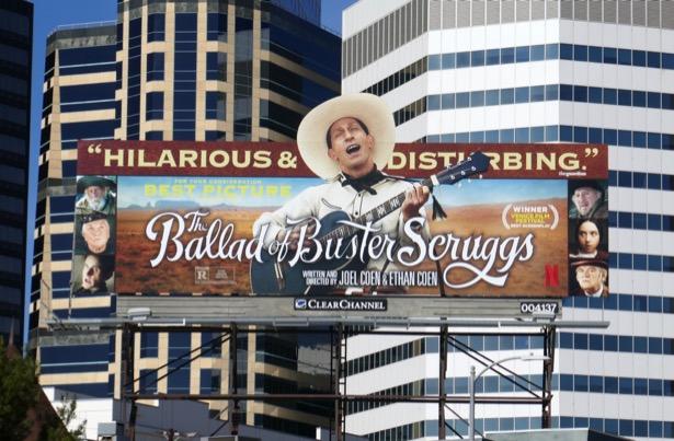 Ballad of Buster Scruggs movie billboard