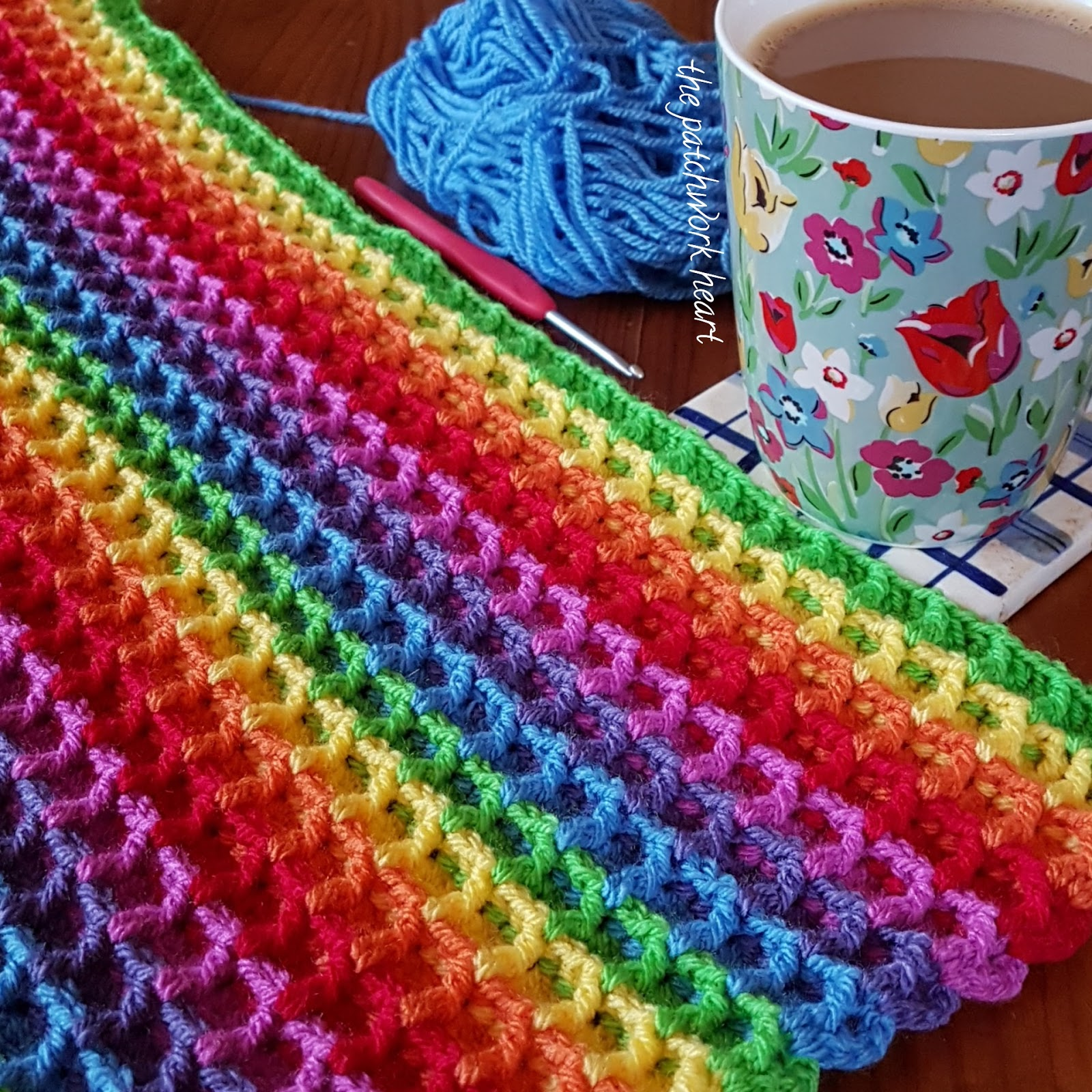 The Patchwork Heart: The waffle blanket