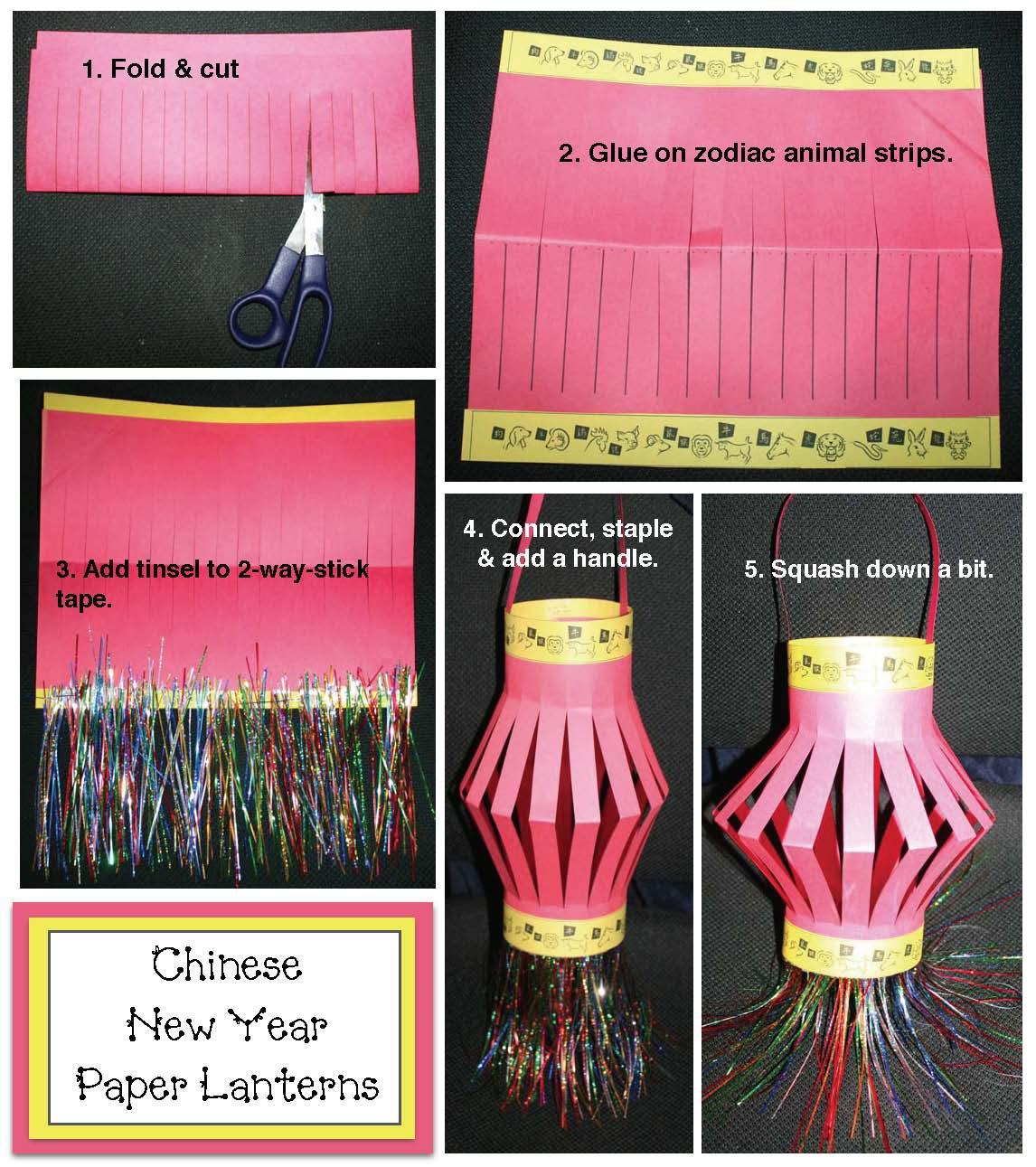 Classroom Freebies Chinese New Year Paper Lantern Craft