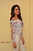 Actress Pragya Jaiswal Latest Pos in White Denim Jeans at Nakshatram Movie Teaser Launch  0058.JPG