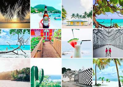 Mosaique d'images de Guadeloupe .