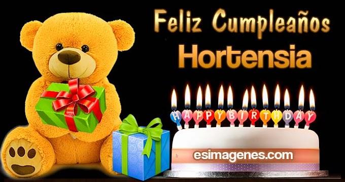Feliz cumpleaños Hortensia