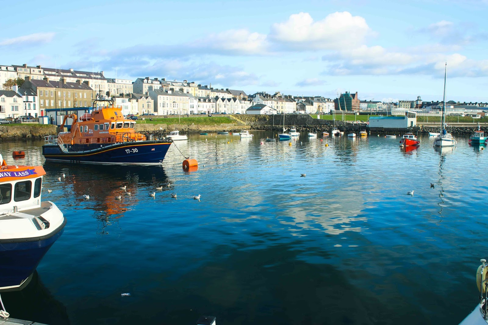 Portrush harbour Northern Ireland