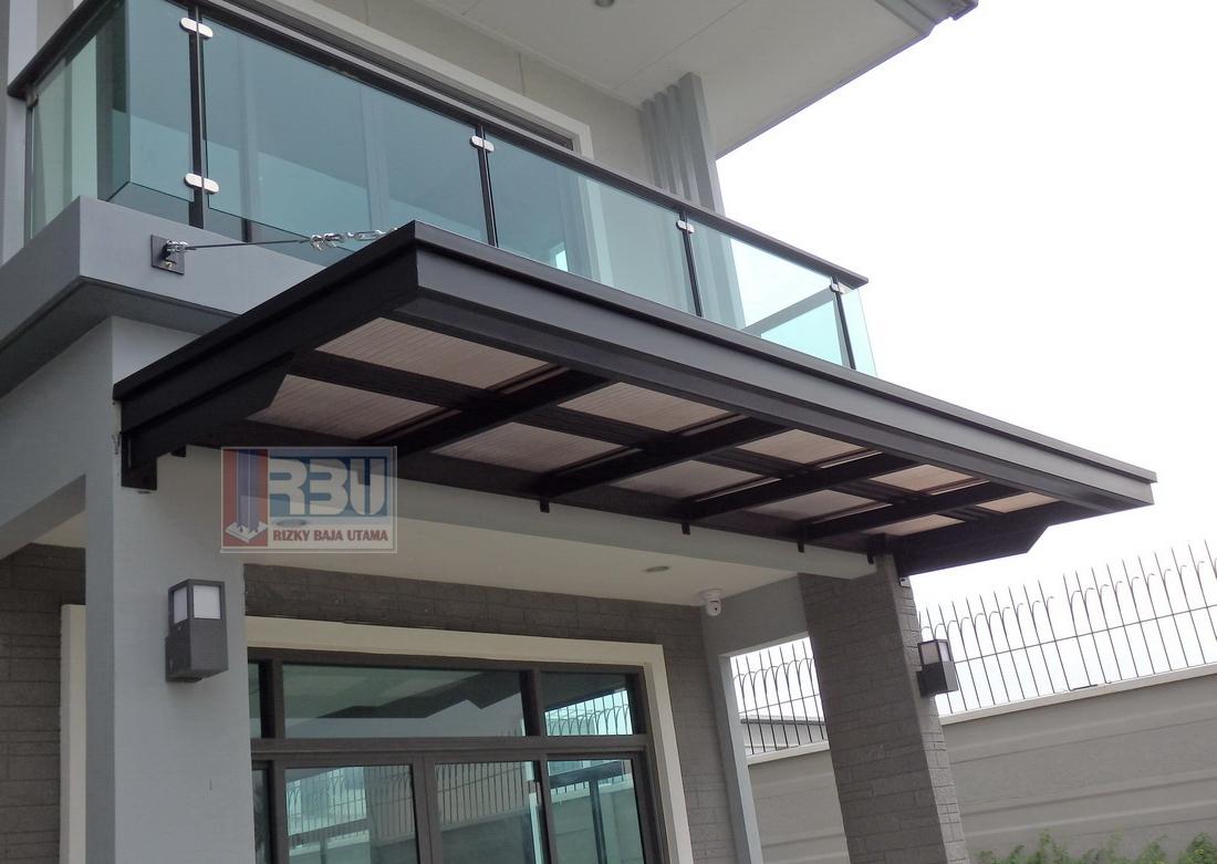 Kanopi Atap Teras Bengkel Las Konstruksi Baja Rizky Baja Utama
