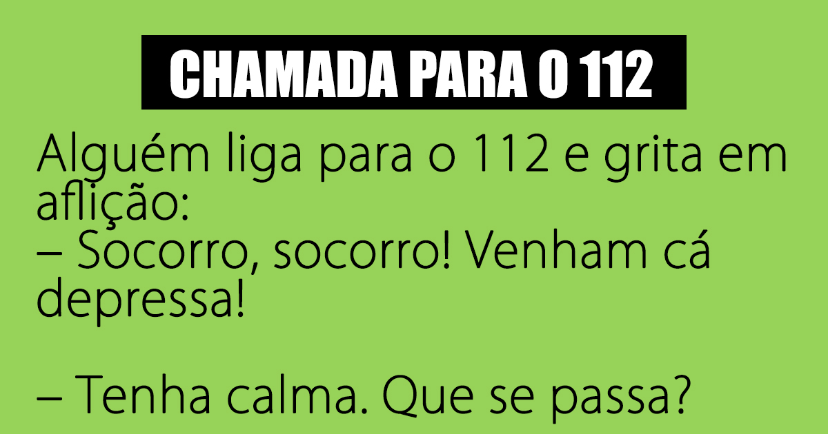 Chamada para o 112