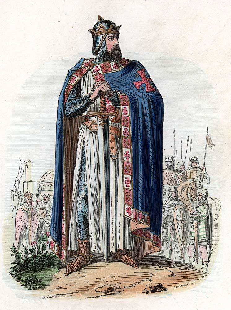 Godfrey of Bouillon king of crusader states