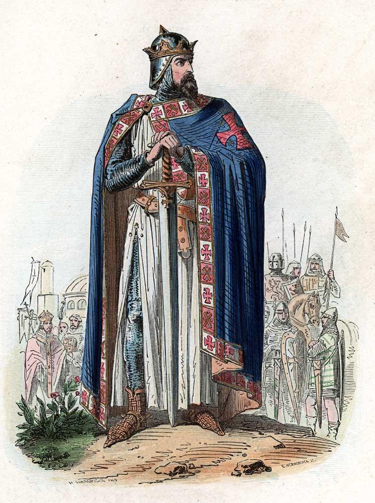 Godfrey of Bouillon king of crusader states