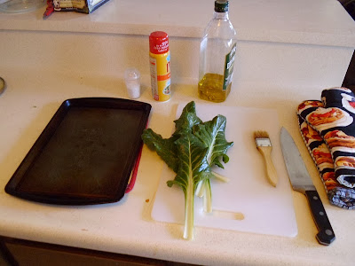 Swiss Chard Chips Ingredients