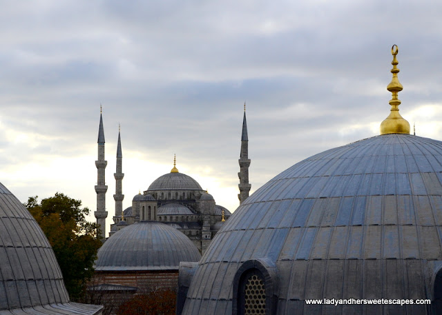 Blue Mosque from the window of Hagia Sophia