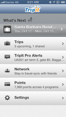 TripIt app for iPhone