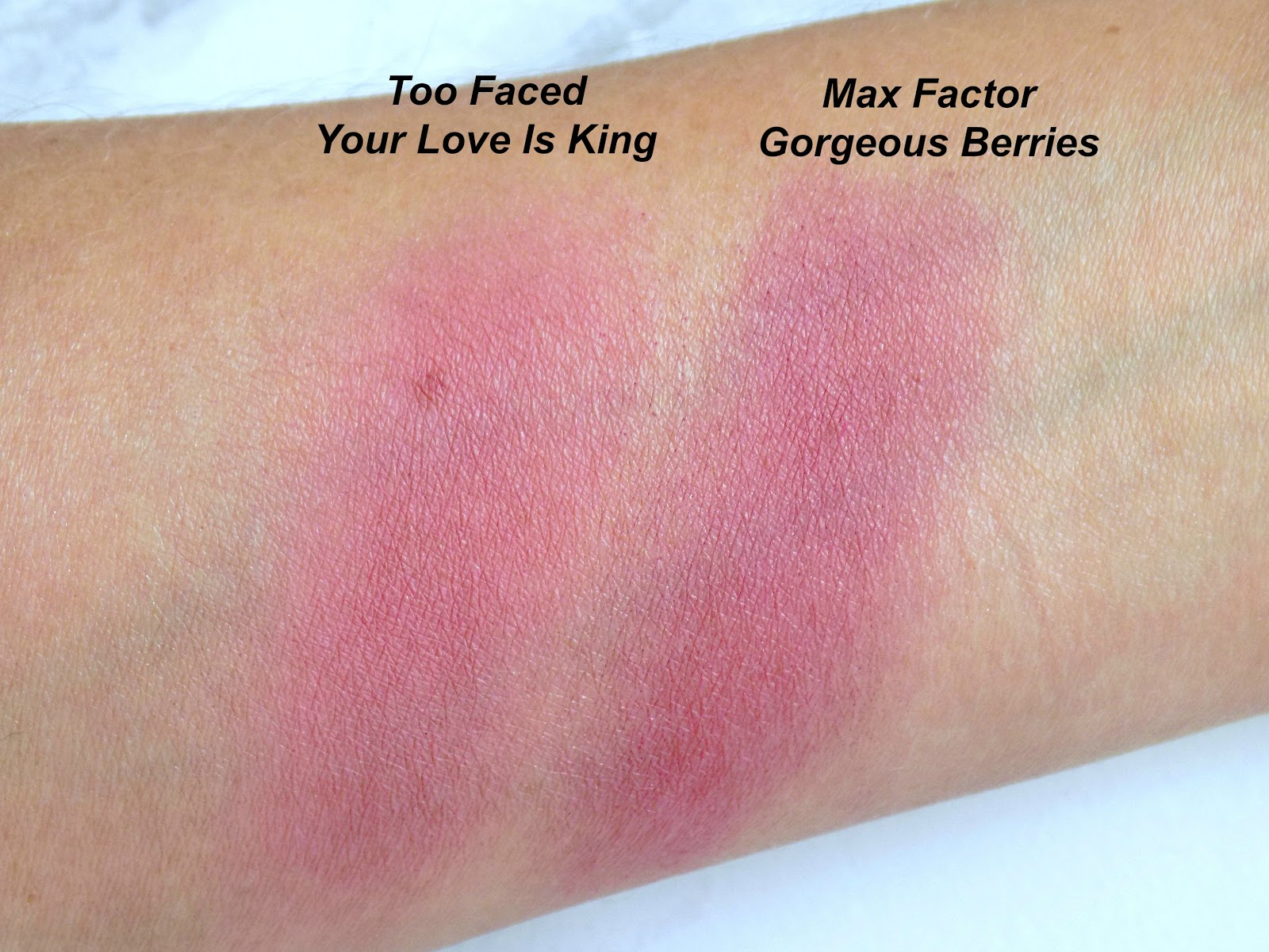 My favourite berry blushes