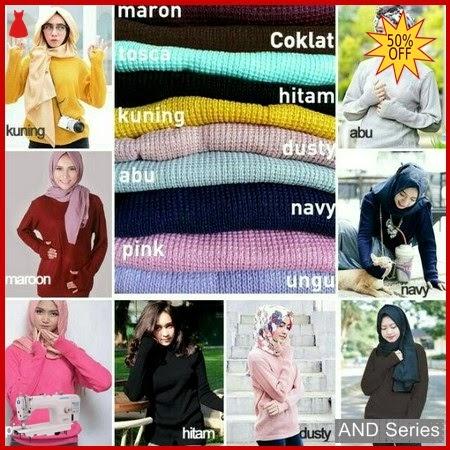AND001 Baju Atasan Wanita Blouse Promo Rajut BMGShop