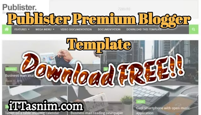 Publister premium blogger template free download