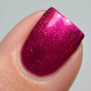 burgundy shimmer nail polish