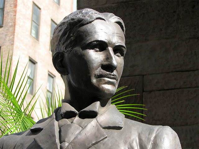 Bust of Nikola Tesla by Marina Zivic, Serbian Orthodox Cathedral of St. Sava, New York