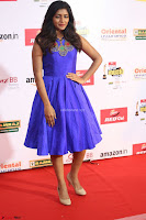 Eesha in Cute Blue Sleevelss Short Frock at Mirchi Music Awards South 2017 ~  Exclusive Celebrities Galleries 044.JPG