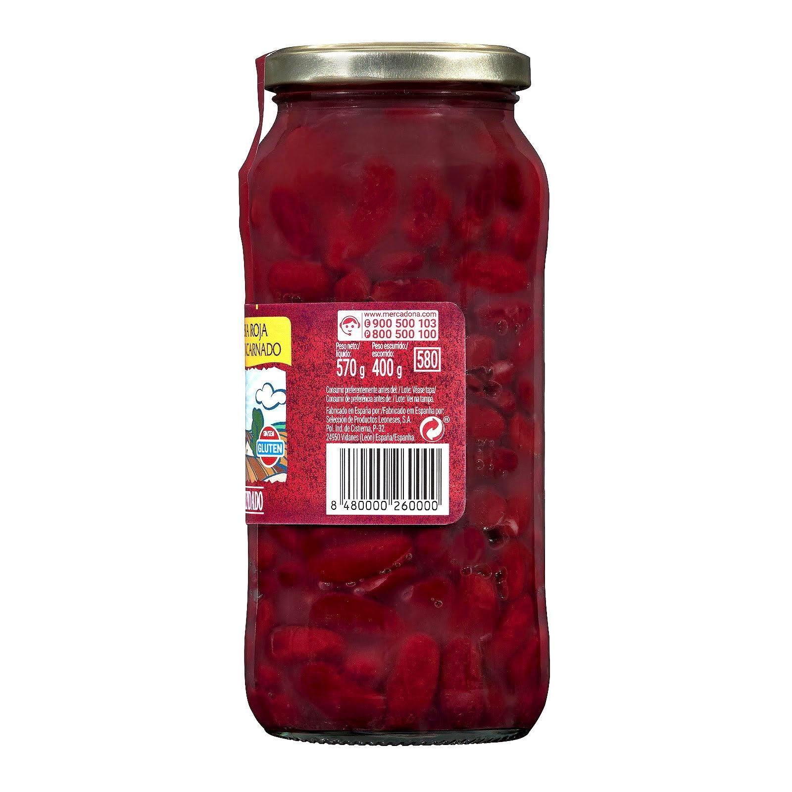 Alubia cocida roja Hacendado