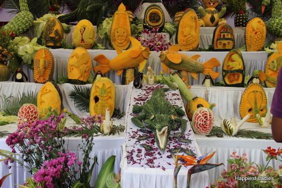 Dasara Flower Show 2016 - vegetable carvings