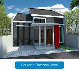 Tampak depan rumah minimalis di lahan 7 x 14 meter