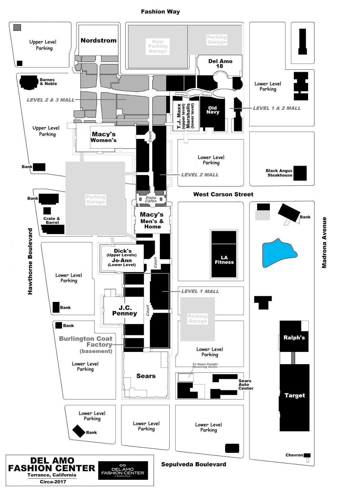 Del Amo Mall Map West   www.topsimages.com