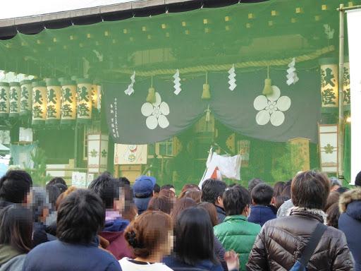 大阪天満宮 初詣 巫女