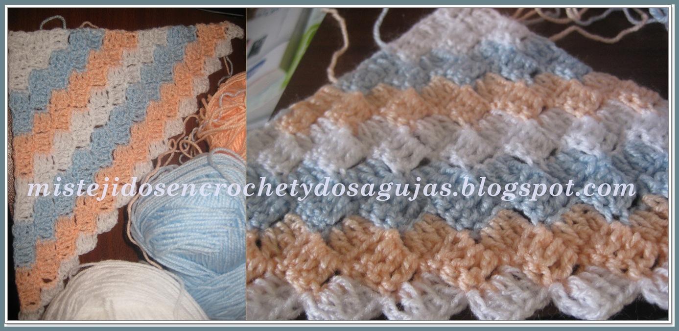 Mis tejidos en crochet y dos agujas palitos manta - Punto de ganchillo para mantas ...
