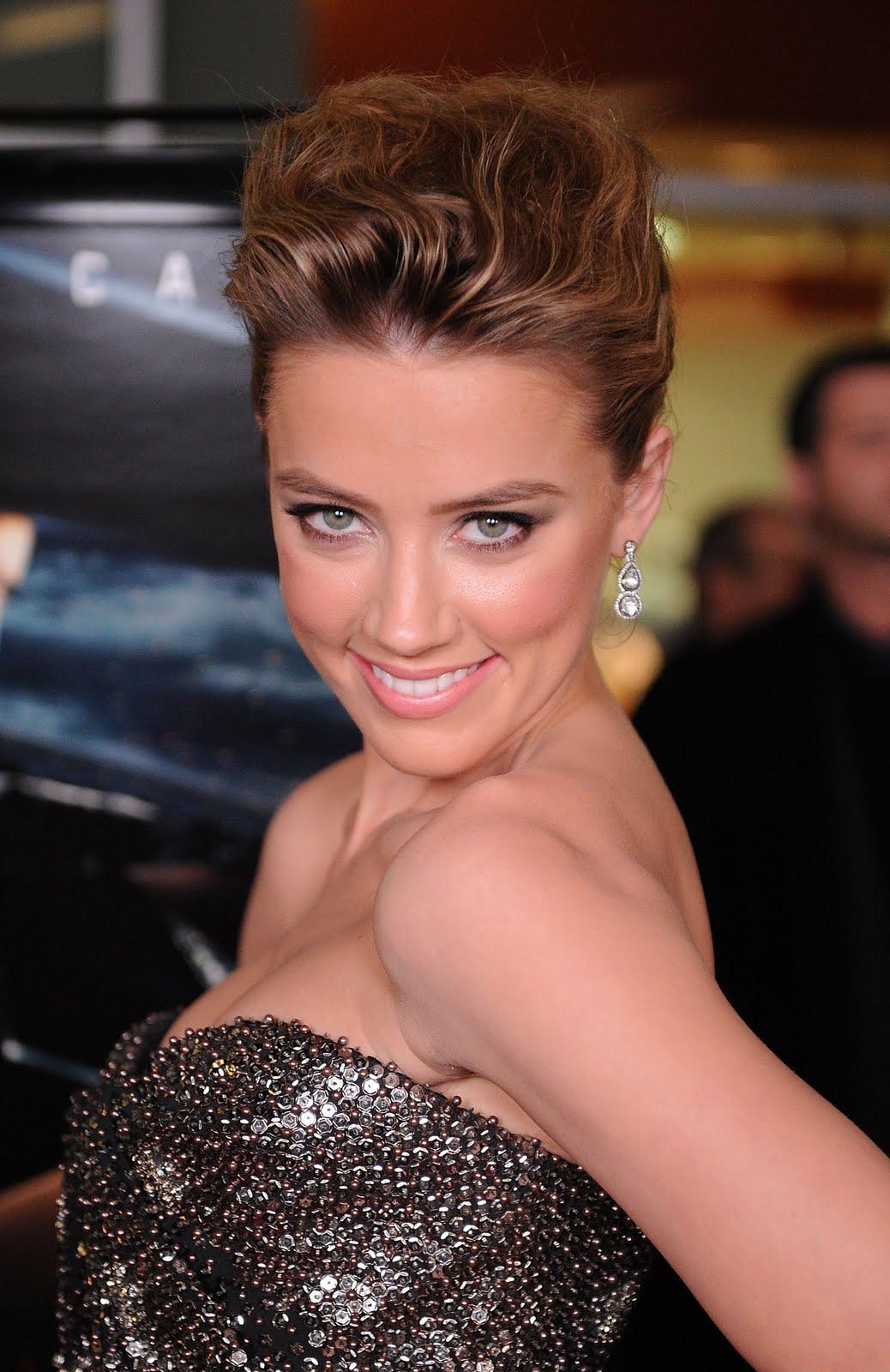 Amber Heard Is The Most Scientifically Beautiful Woman: Amber Heard In A Metallic Dress
