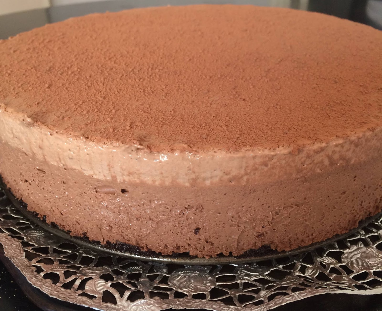 Triple Chocolate Mousse Cake Without Gelatin