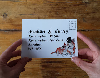 Bespoke Royal Wedding Stationery RSVP by Alice Draws The Line