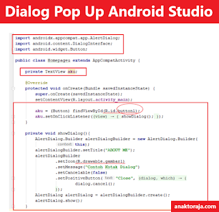 Cara Membuat Dialog Pop Up Android Studio