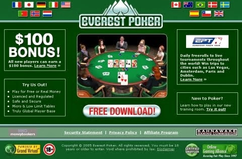 Flash poker game online