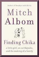 The white book cover has the author's name in large print above a sketch of Chika, Mitch, and his wife with the title near the bottom.