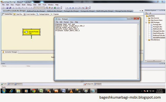 how to call a ssis package from a batch file