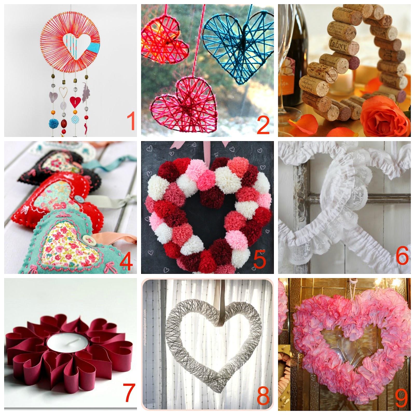 10 decorazioni fai da te a forma di cuore donneinpink - Decorazioni san valentino fai da te ...