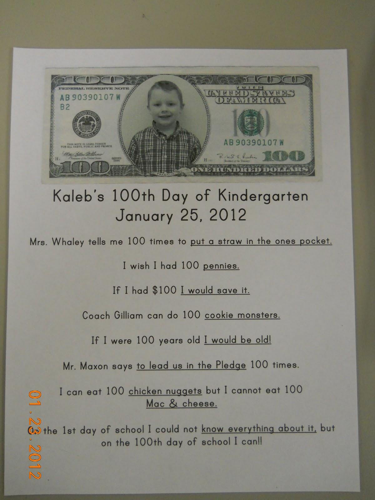 Mrs Whaley S Kindergarten 100th Day Of Kindergarten