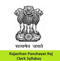 Rajasthan Panchayat Raj Clerk Syllabus