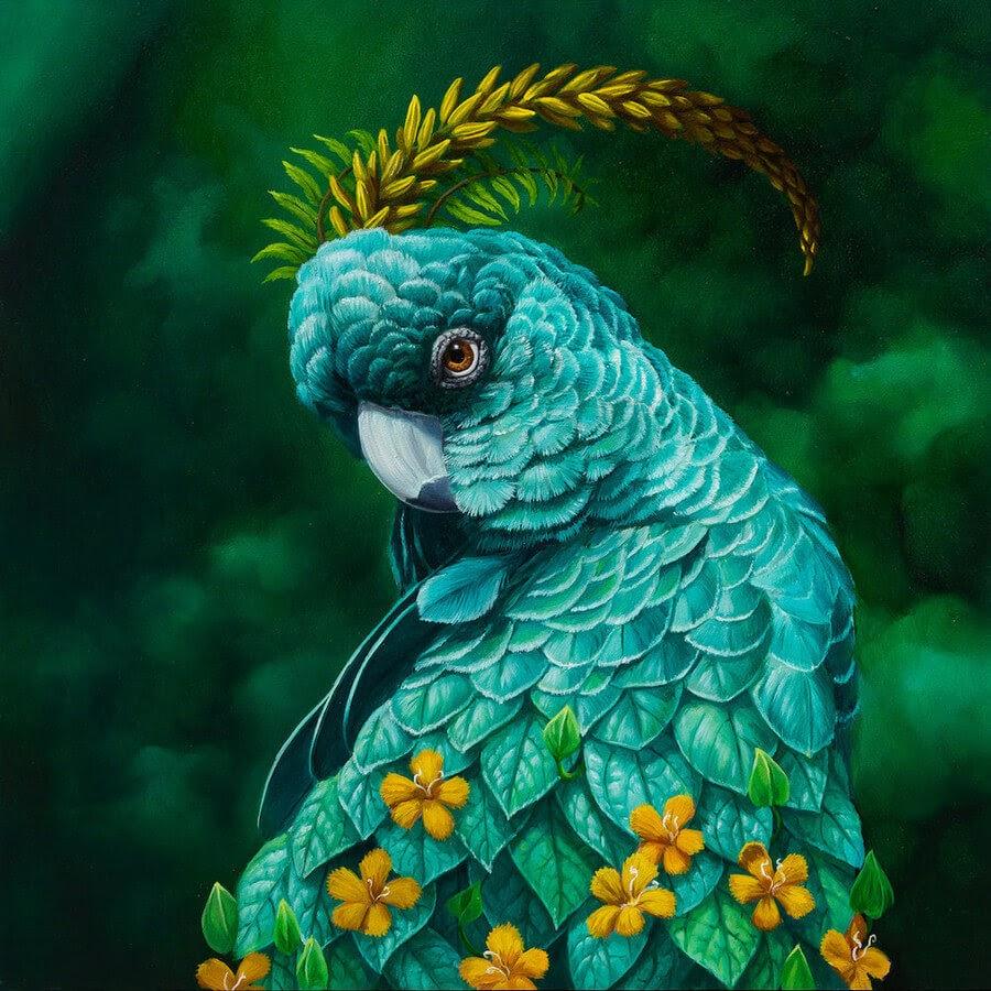 14-Flower-Parrot-Jon-Ching-Animal-Oil-Paintings-www-designstack-co