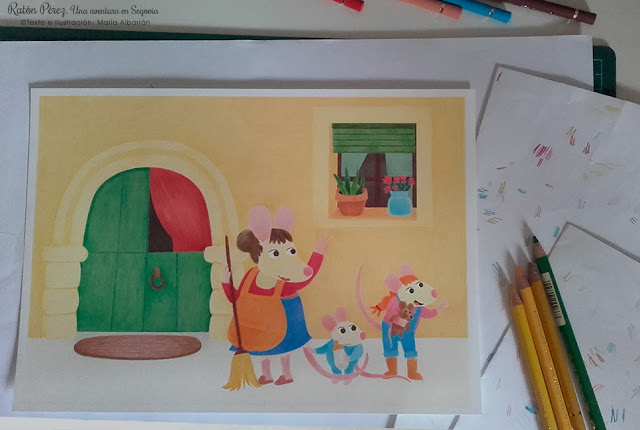 Perez Mouse work in progress - Maria Albarran Illustration