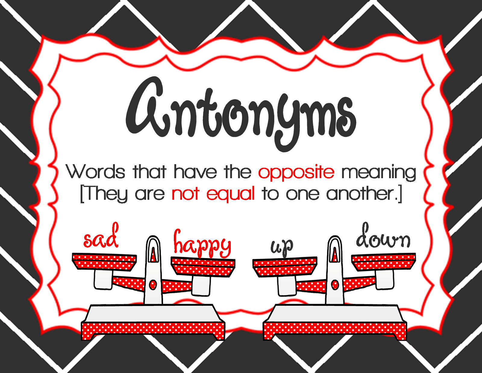 Synonyms and Antonyms in 1st Grade - The Brown Bag Teacher