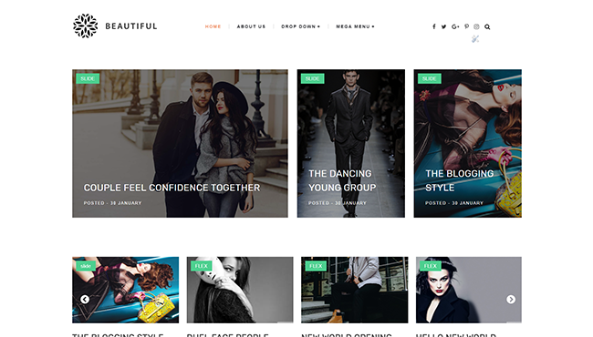 beautiful - Best blogging Blogger Template