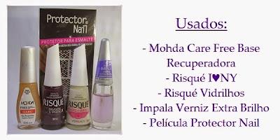 Esmaltes Risqué I♥NY, Vidrilhos e Protector Nail