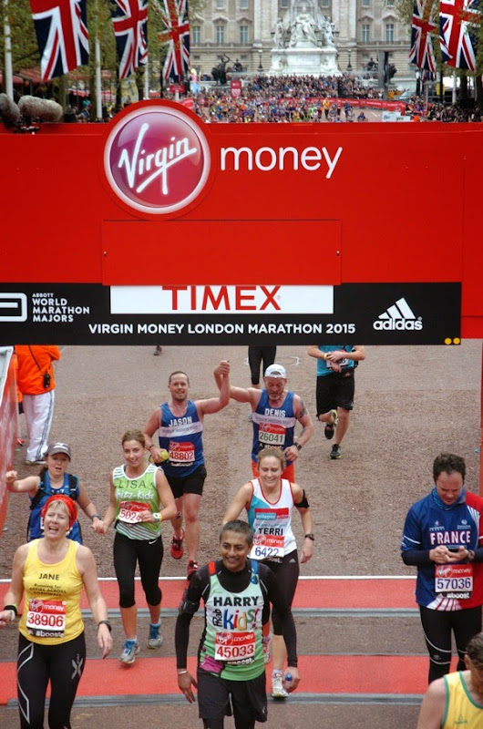 Crossing 2015 London Marathon Finish Line
