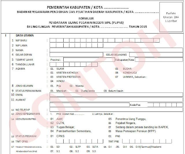 Download Contoh Formulir E Pupns Tahun 2015 Excel Dadang Jsn