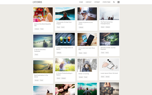 Lycoris New Responsive Blogger Template